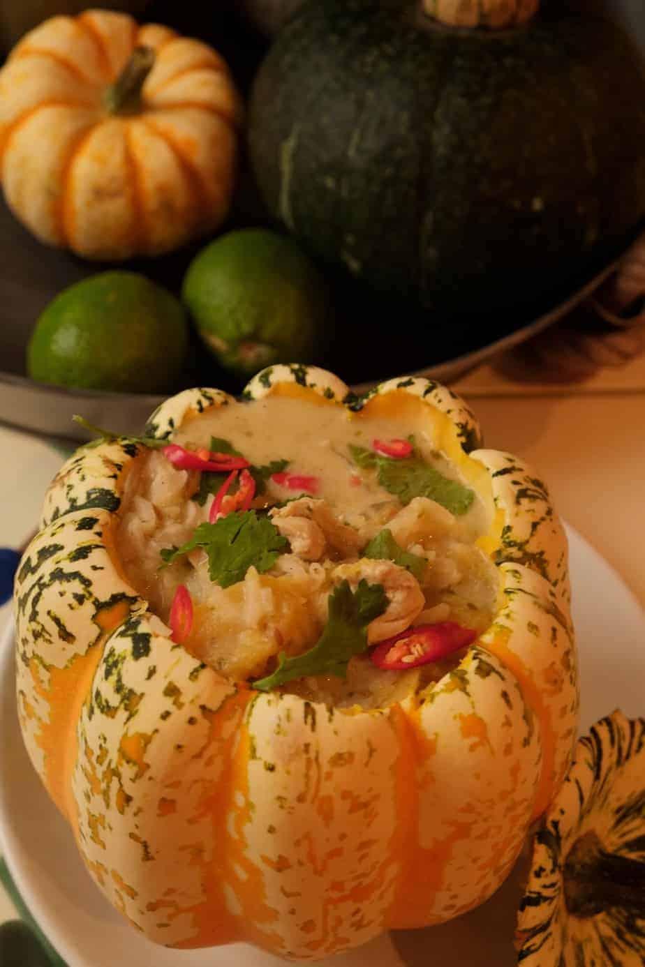 Pure Punjabi Chicken and Pumpkin Soup with Garam Masala