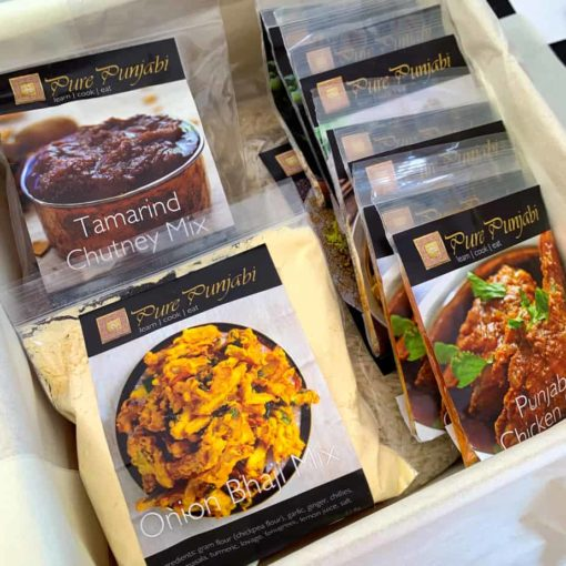 Pure Punjabi traditional meal kit box sachets