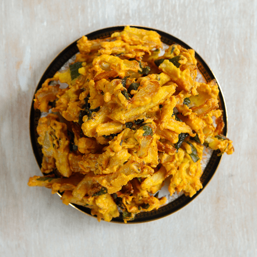 Pure Punjabi Indian Meal Kit box Onion bhajis sachet