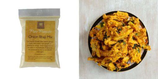 Onion bhajis, gluten-free , dairy-free , vegetarian , vegan , plant-based , meal box, meal prep