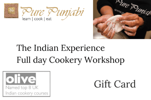 The Indian Experience Cookery Workshop Gift Card