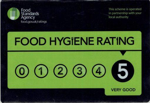 Pure Punjabi food hygiene rating 5 stars