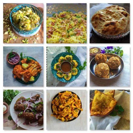 The Pure Punjabi Indian Street Food Meal Kit Box dishes