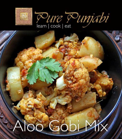 Pure Punjabi Aloo Gobi Mix, Indian meal kits, purepunjabi.co.uk