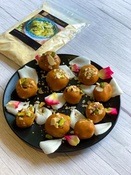 Besan Mix by Pure Punjabi, besan, besan barfi, besan laddu, Indian sweets, how to make Indian sweets, Indian desserts, vegan, plant based, gluten free, gluten free plant based, gluten free vegan, purepunjabi.co.uk