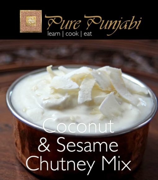 Pure Punjabi Coconut & Sesame Chutney Mix Meal Kit sachet, purepunjabi.co.uk , Indian Chutney