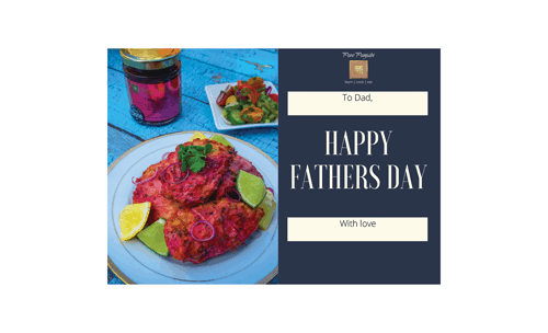 Pure Punjabi Father's Day gift card, Indian food, Indian food gifts