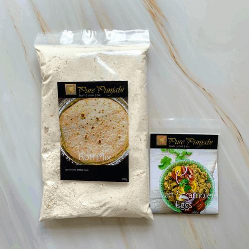 brunch, Indian brunch, dinner kit, meal kits, paratha kit, Indian egg recipe, make at home dinners, recipes with the kids, cook at home with the kids, purepunjabi.co.uk, paratha kit