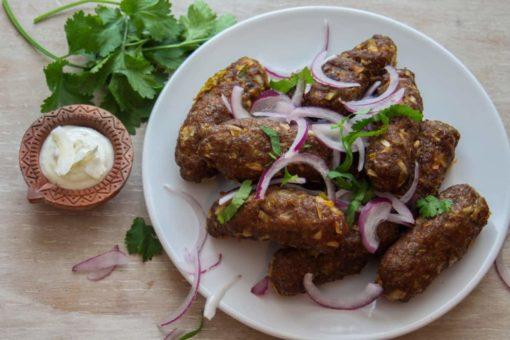 Lamb kebabs, meal kits, meat meal kits, seekh kebabs, purepunjabi.co.uk, gluten free meal kits, dairy free meal kits