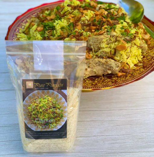 Chicken Biriyani, Punjabi biriyani, meal kit, dinner kit, curry kit, Punjabi food, cook at home, purepunjabi.co.uk