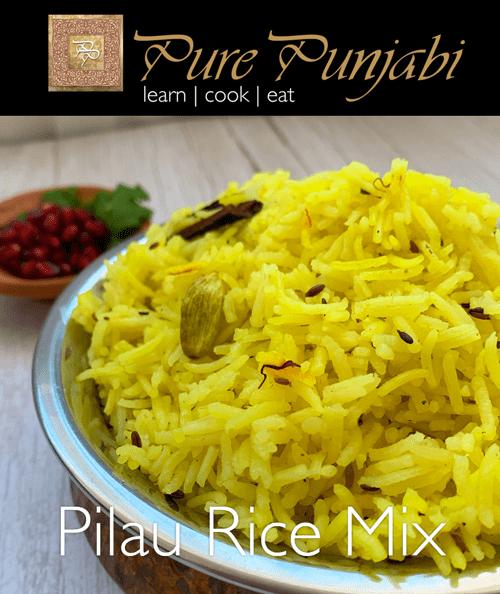 Pure Punjabi Pilau Rice mix, Indian rice, Indian dinner kit, rice kit, curry kit, gluten-free, wheat-free, dairy-free, vegan, vegetarian