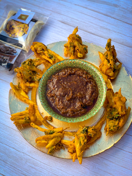Onion Bhaji & Tamarind Chutney starter kit by Pure Punjabi