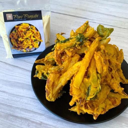 Onion Bhaji kit by Pure Punjabi, vegan, plant based, gluten free
