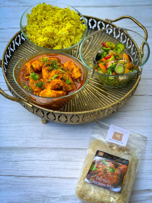 Pure Punjabi Indian Dinner kits- Punjabi Chicken & Jeera Rice