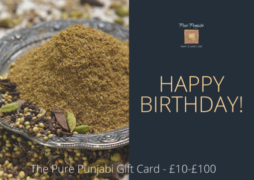 Pure Punjabi gift cards-Happy Birthday