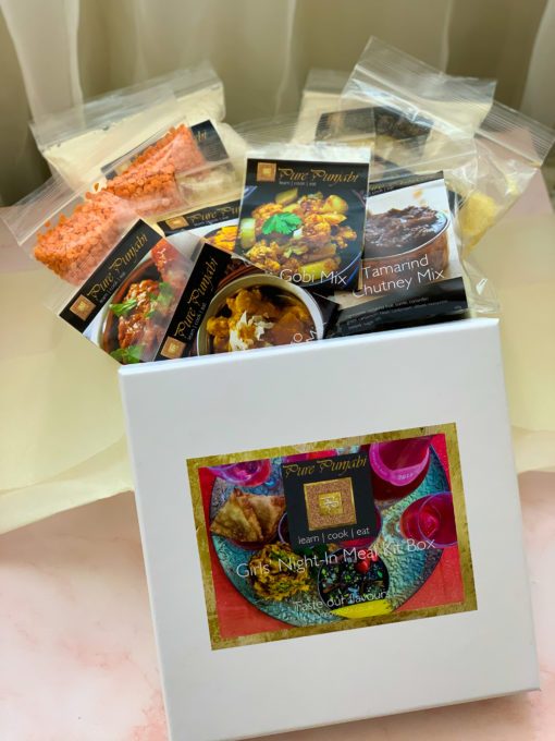 Girls' Night In Box, purepunjabi.co.uk, Pure Punjabi Meal Kit Boxes, Meal KIts boxes, gifts for her, foodie gifts, mother's day gifts, girlie gifts