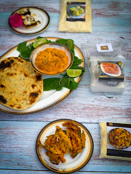 Pure Punjabi Butter chicken & Methi Naan 3 course meal kit pack